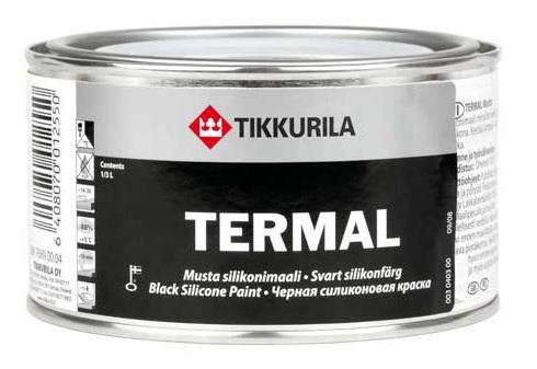 Tikkurila Termal černá 0,1L žáruvzdorná vypalovací barva na kov silikonová