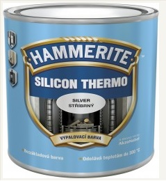 Hammerite Silicon Thermo 0,25L černá do 400 °C silikonová vypalovací žáruvzdorná barva na kov