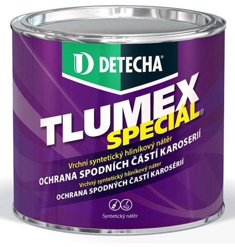 Detecha Tlumex Speciál 5Kg nátěr s hliníkem pro ochranu spodních částí karoserie