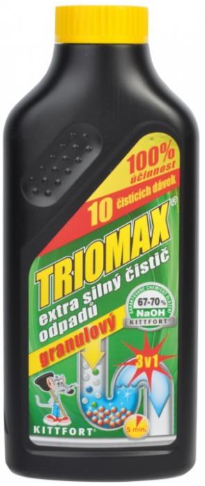 Kittfort TRIOMAX granulový čistič odpadů 500g extra silný čistič odpadů a potrubí
