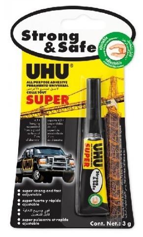 UHU ALLESKLEBER SUPER Strong + Safe 3g Univerzální lepidlo nové generace