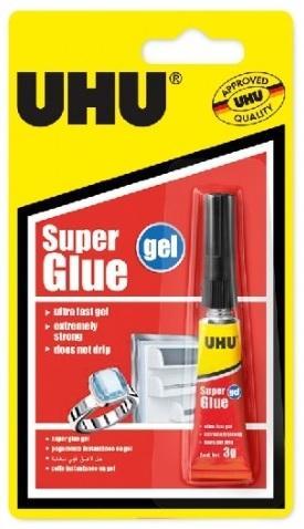UHU Super Glue gel 3 g Supersilné gelové vteřinové lepidlo