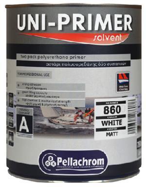 Pellachrom UNI Primer A+B 0,75L bílá - vysoce odloný dvousložkový polyuretanový základ na lodě, laminát, kov, dřevo
