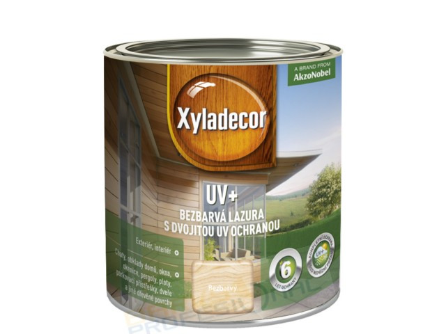 XYLADECOR UV+ 0,75L, bezbarvá lazura na rozpouštědlové bázi s dvěma druhy UV absorbérů,