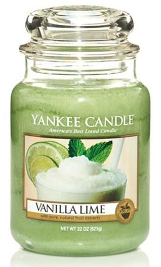 YANKEE CANDLE Vanilla Lime CLASSIC VELKÝ Vonná Svíčka Vanilka s limetou