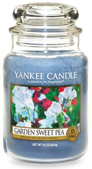 YANKEE CANDLE GARDEN SWEET PEA CLASSIC VELKÝ VONNÁ SVÍČKA Květy ze zahrádky