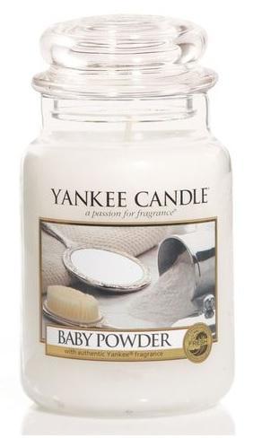 YANKEE CANDLE BABY POWDER CLASSIC VELKÝ VONNÁ SVÍČKA