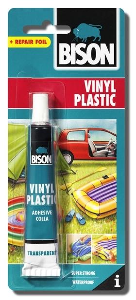 Bison Vinyl Plastic 25ml blistr - Lepidlo na měkčené plasty se záplatou