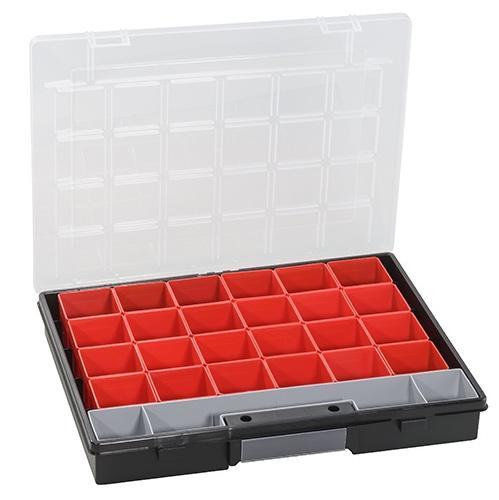 ALLIT Plastový kufřík s vyjímatelnými krabičkami EuroPlus Flex 37/25