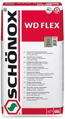 SCHÖNOX WD FLEX 5Kg Snadno použitelná vodoodpudivá flexibilní spárovací hmota