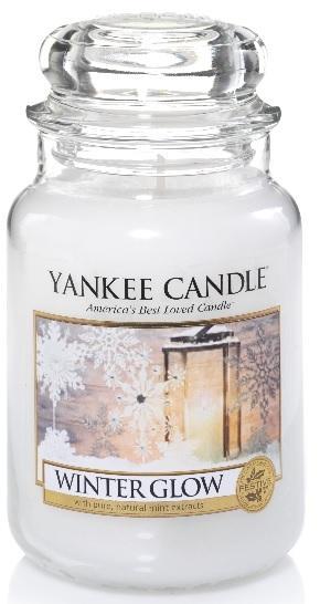 YANKEE CANDLE Vonná Svíčka Winter Glow CLASSIC VELKÝ Zářivá zima
