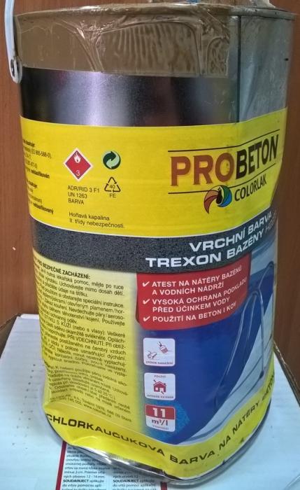 COLORLAK TREXON BAZÉNY H 2203 / C0400 Modrá / 3,5L chlorkaučuková barva na nátěry betonových bazénů - VÝPRODEJ BAZAR!