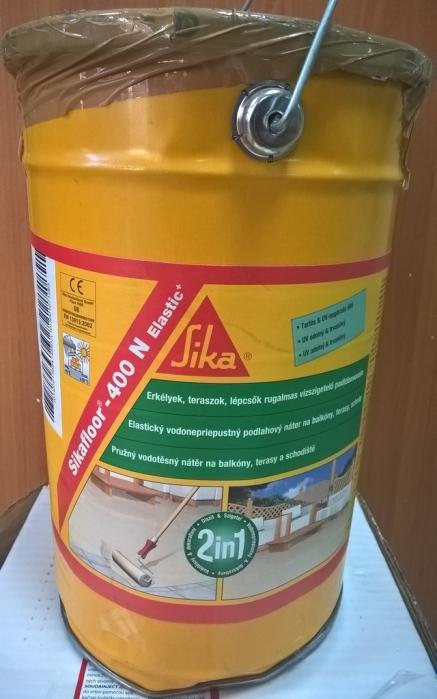 Sikafloor 400 N Elastic+ 6kg RAL 1001 pružný vodotěsný nátěr na balkony terasy VÝPRODEJ BAZAR!