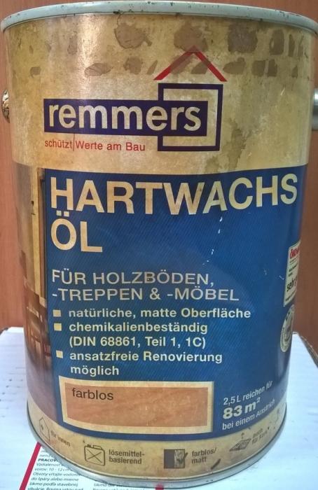 REMMERS Tvrdý voskový olej Aidol Hartwachs-Öl 2,5L - VÝPRODEJ BAZAR!