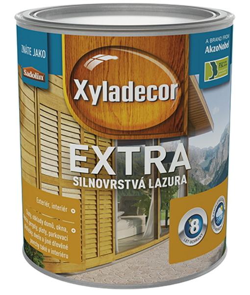 EXTRA 0,75L Xyladecor Extra je dekorační a ochranná silnovrstvá lazura na dřevo na rozpouštědlové bázi.
