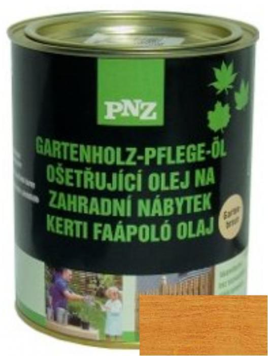 PNZ Ošetřující olej na zahradní nábytek gartenbraun / zahradní hnědá 0,75 l